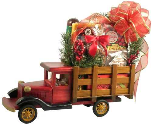 A Special Holiday Delivery, Delivery Truck Gift Basket